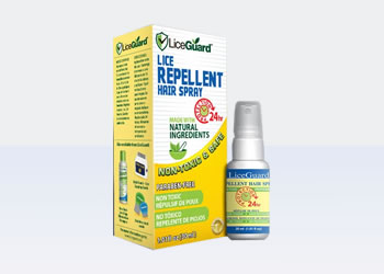 Headlice repellent spray